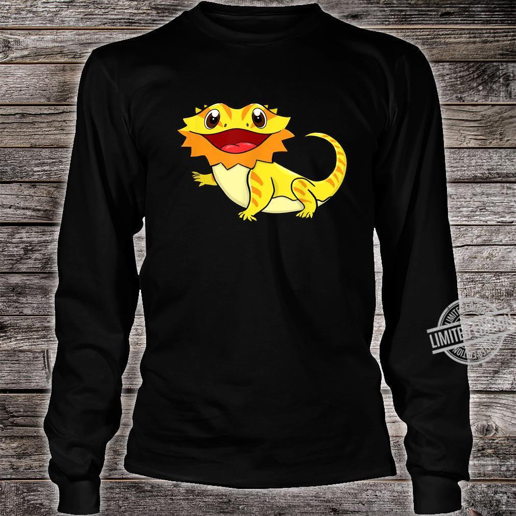 Bartagame Bartagamen Reptilien Eidechse Haustier Tier Schwar Shirt long sleeved