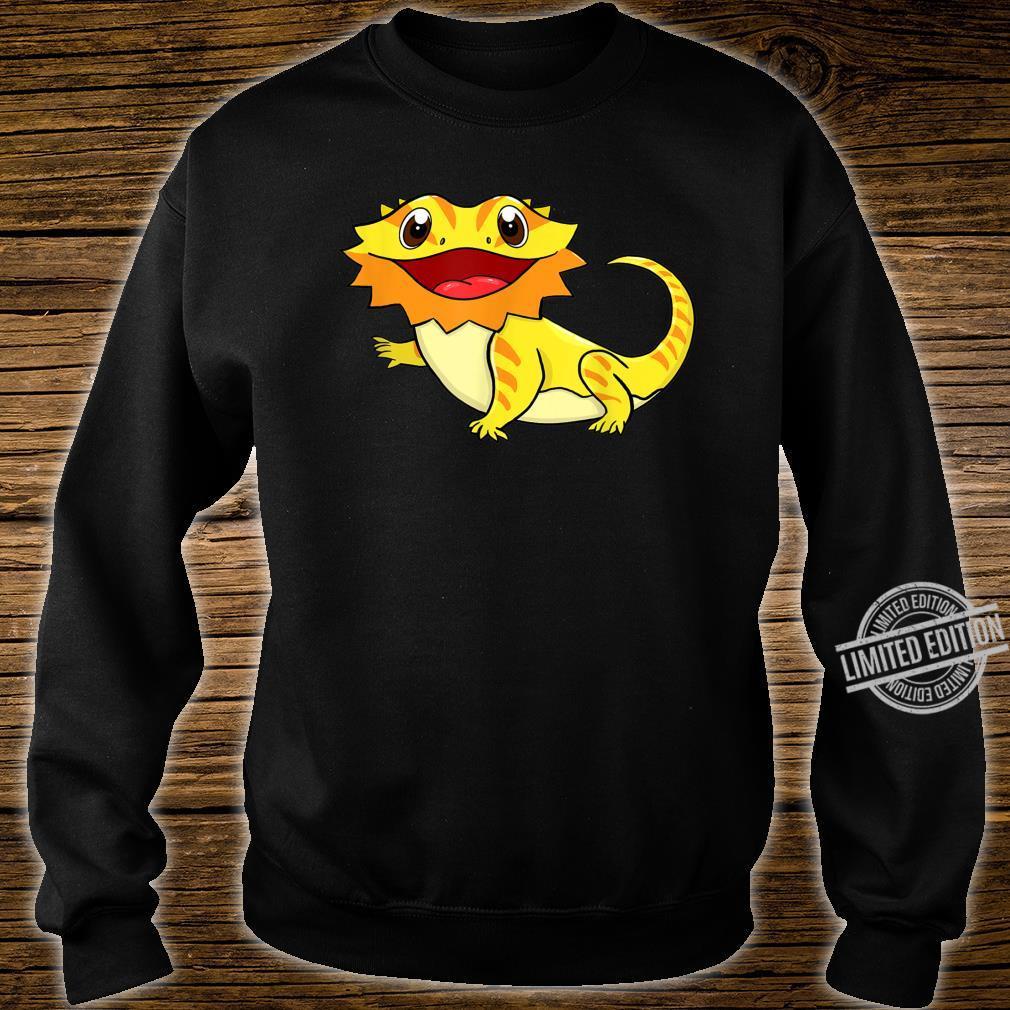 Bartagame Bartagamen Reptilien Eidechse Haustier Tier Schwar Shirt sweater