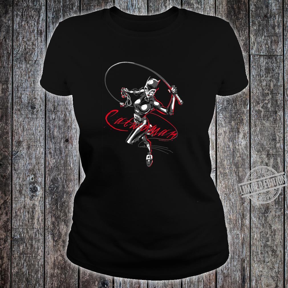 Batman Catwoman Kitten With a Whip Shirt ladies tee