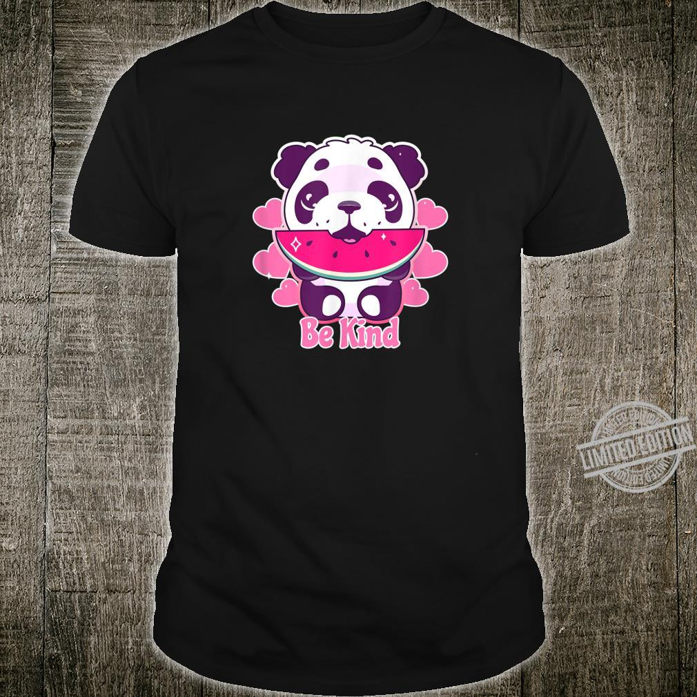Be Kind Cute Panda Watermelon Positive Happy Inspirational Shirt