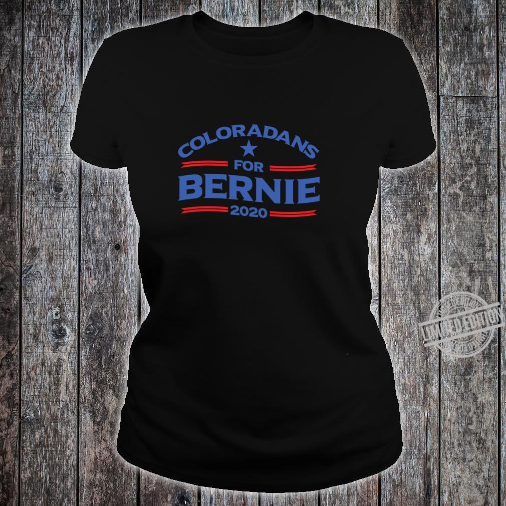 Bernie Sanderss for Colorado 2020 Shirt ladies tee