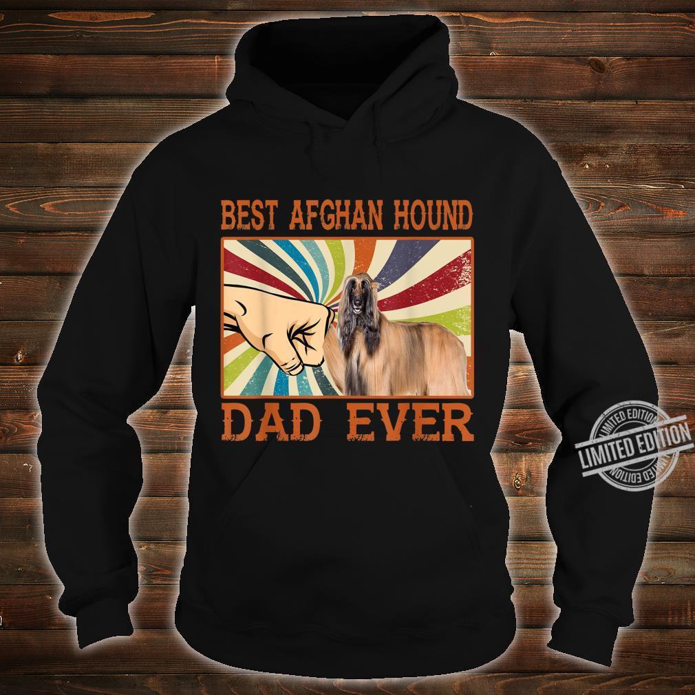 Best Afghan Hound Dad Ever Retro Vintage Shirt hoodie