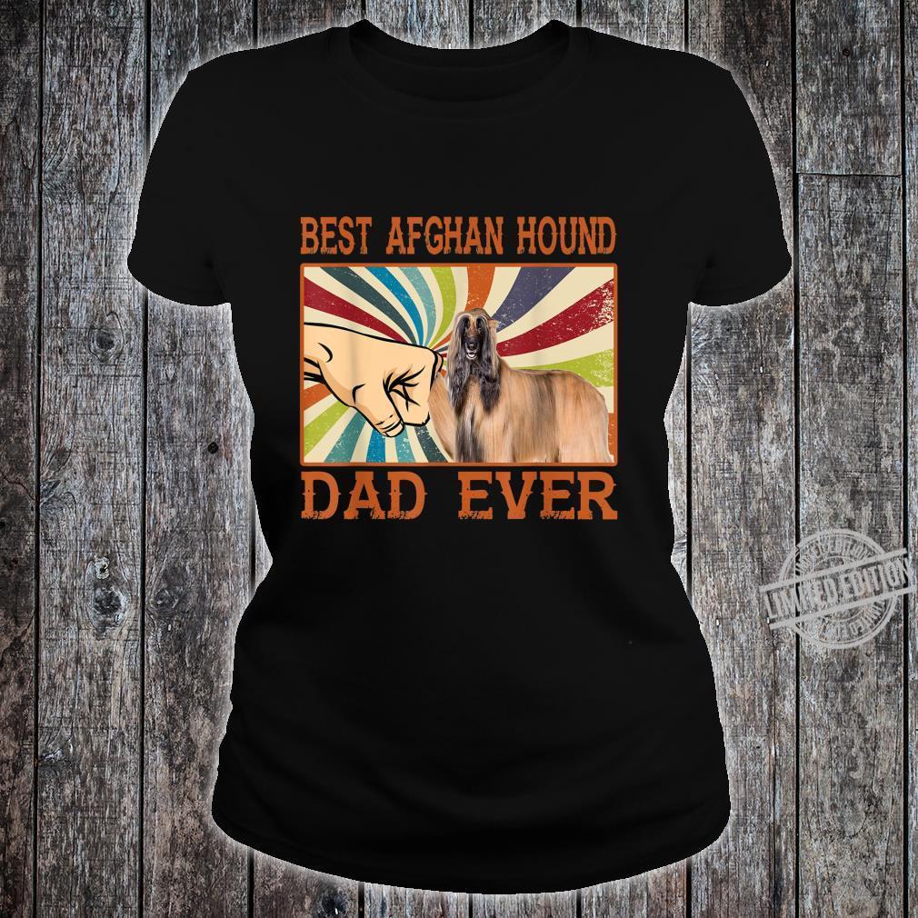 Best Afghan Hound Dad Ever Retro Vintage Shirt ladies tee