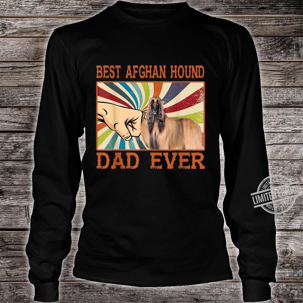 Best Afghan Hound Dad Ever Retro Vintage Shirt long sleeved