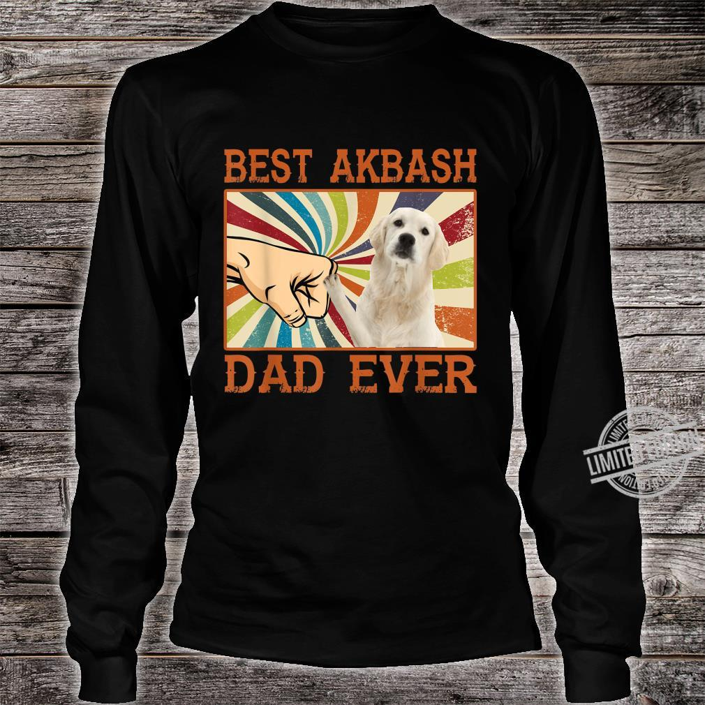 Best Akbash Dad Ever Retro Vintage Shirt long sleeved