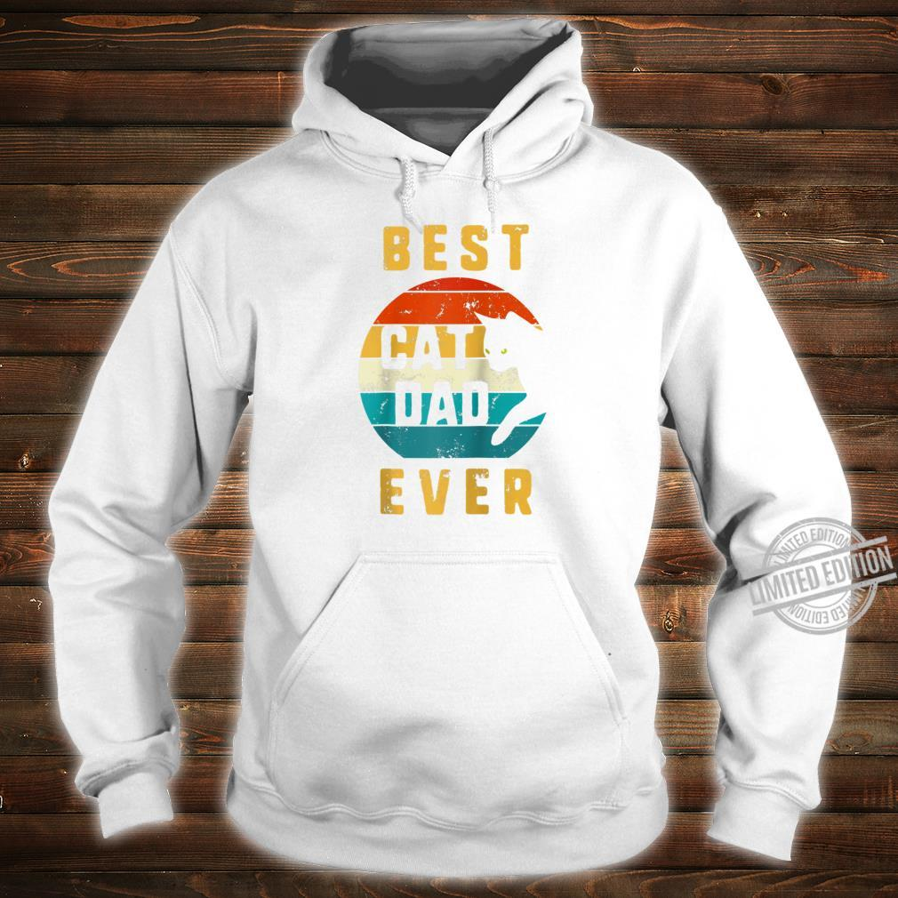 Best Cat Dad Ever Vintage Cat Daddy Retro Father Day Cats Shirt hoodie