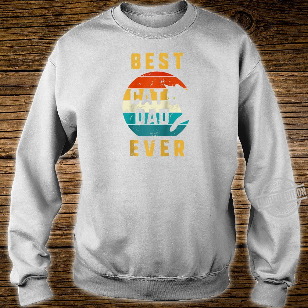 Best Cat Dad Ever Vintage Cat Daddy Retro Father Day Cats Shirt sweater