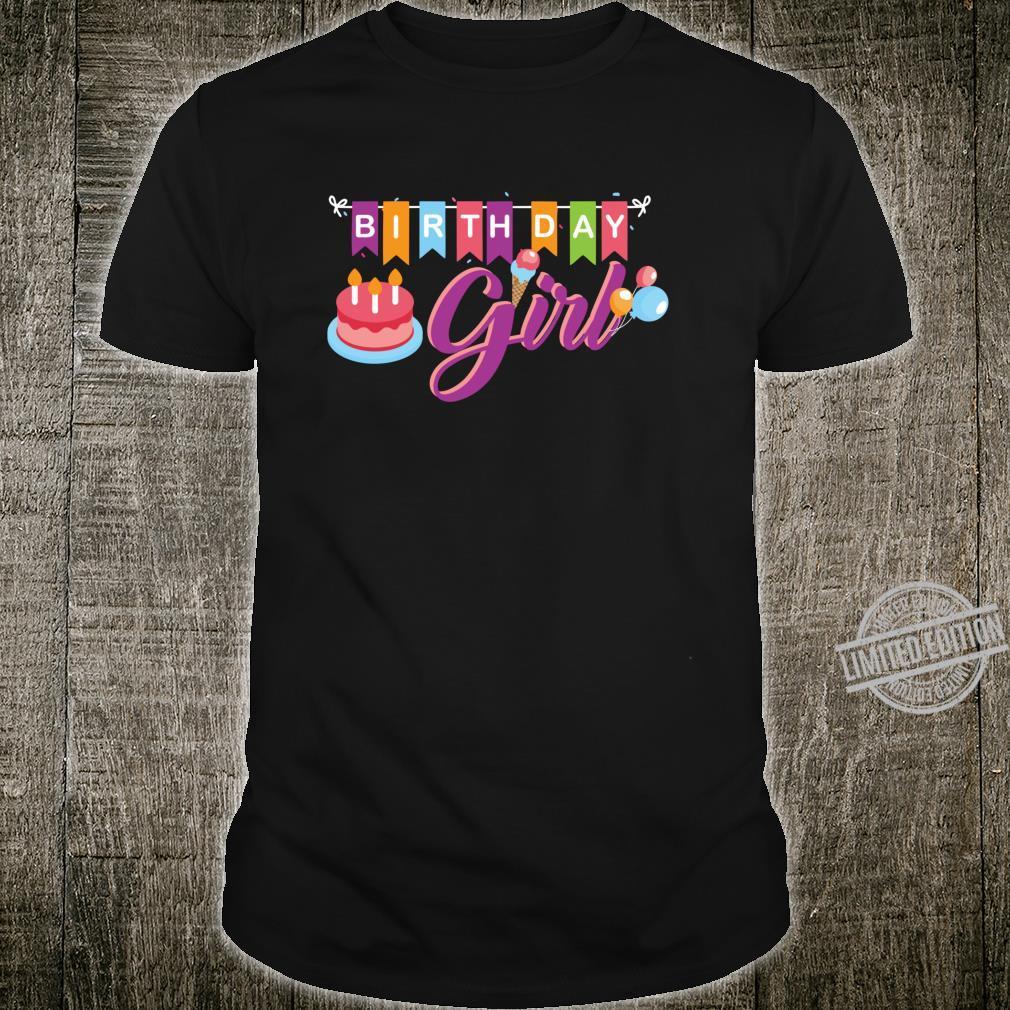 Birthday girl matching family ice cream birthday party Shirt