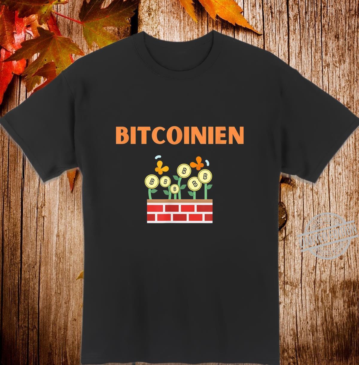 Bitcoin Krypto Blockchain Kryptowährung Geschenkidee Shirt