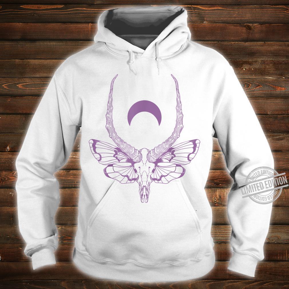 Black & Death Metal Pastel Goth Soft Grunge Moth Skull Shirt hoodie