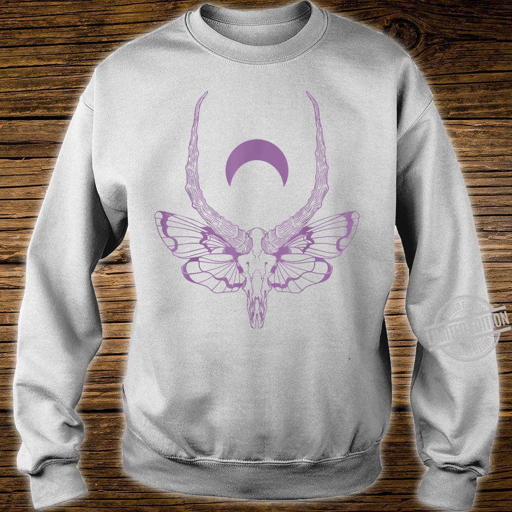 Black & Death Metal Pastel Goth Soft Grunge Moth Skull Shirt sweater