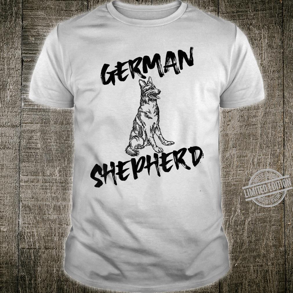 Black German Shepherd Dog Unique Hand Drawn Art Shirt