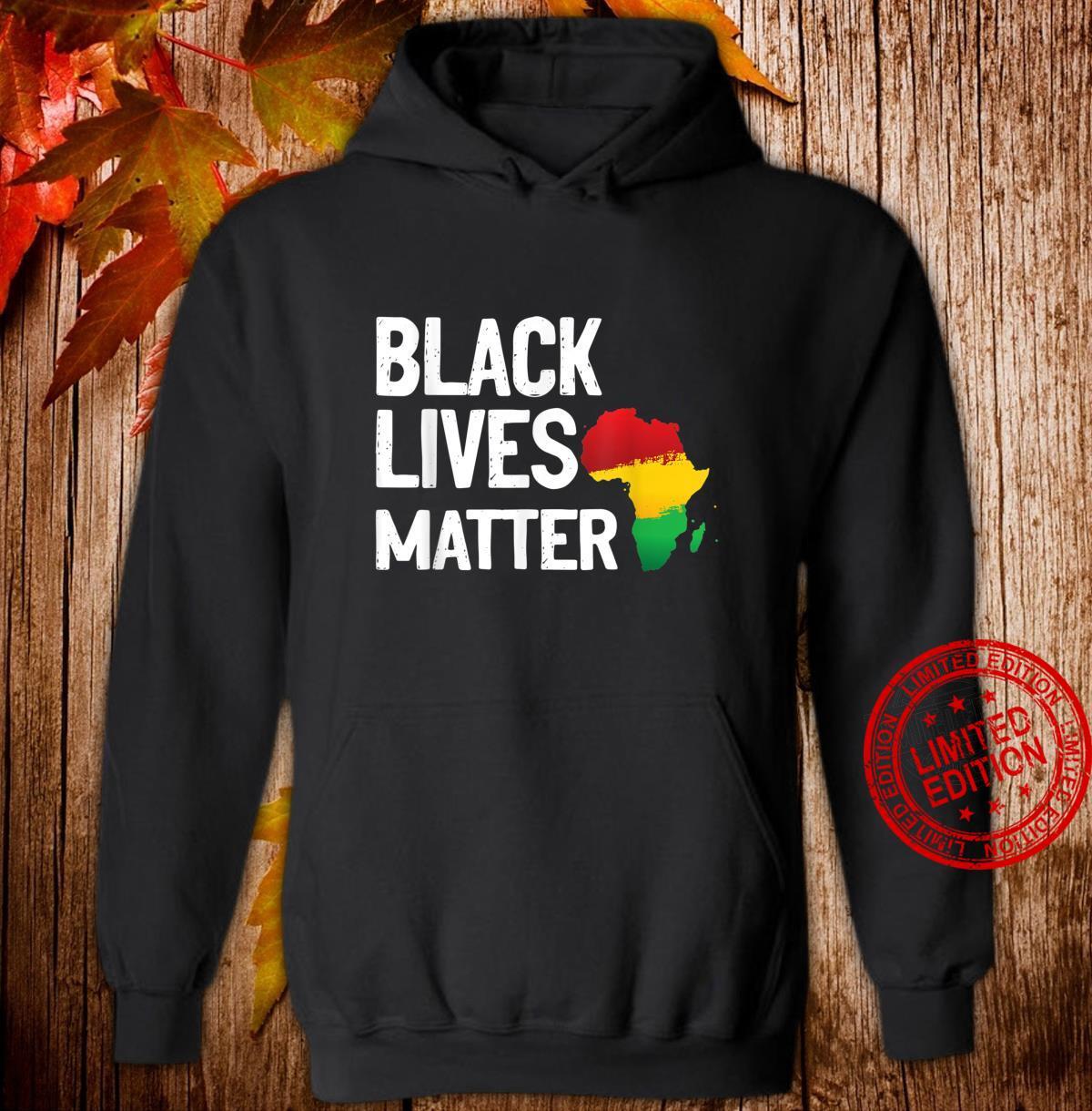 Black Lives Matter African Pride Shirt hoodie