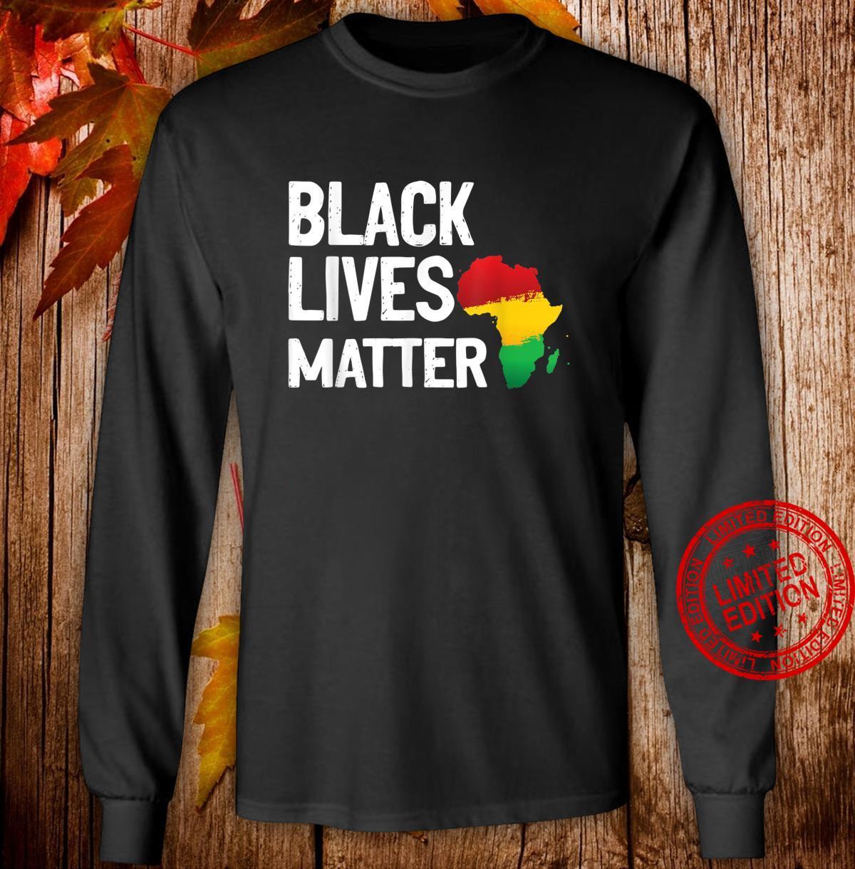 Black Lives Matter African Pride Shirt long sleeved
