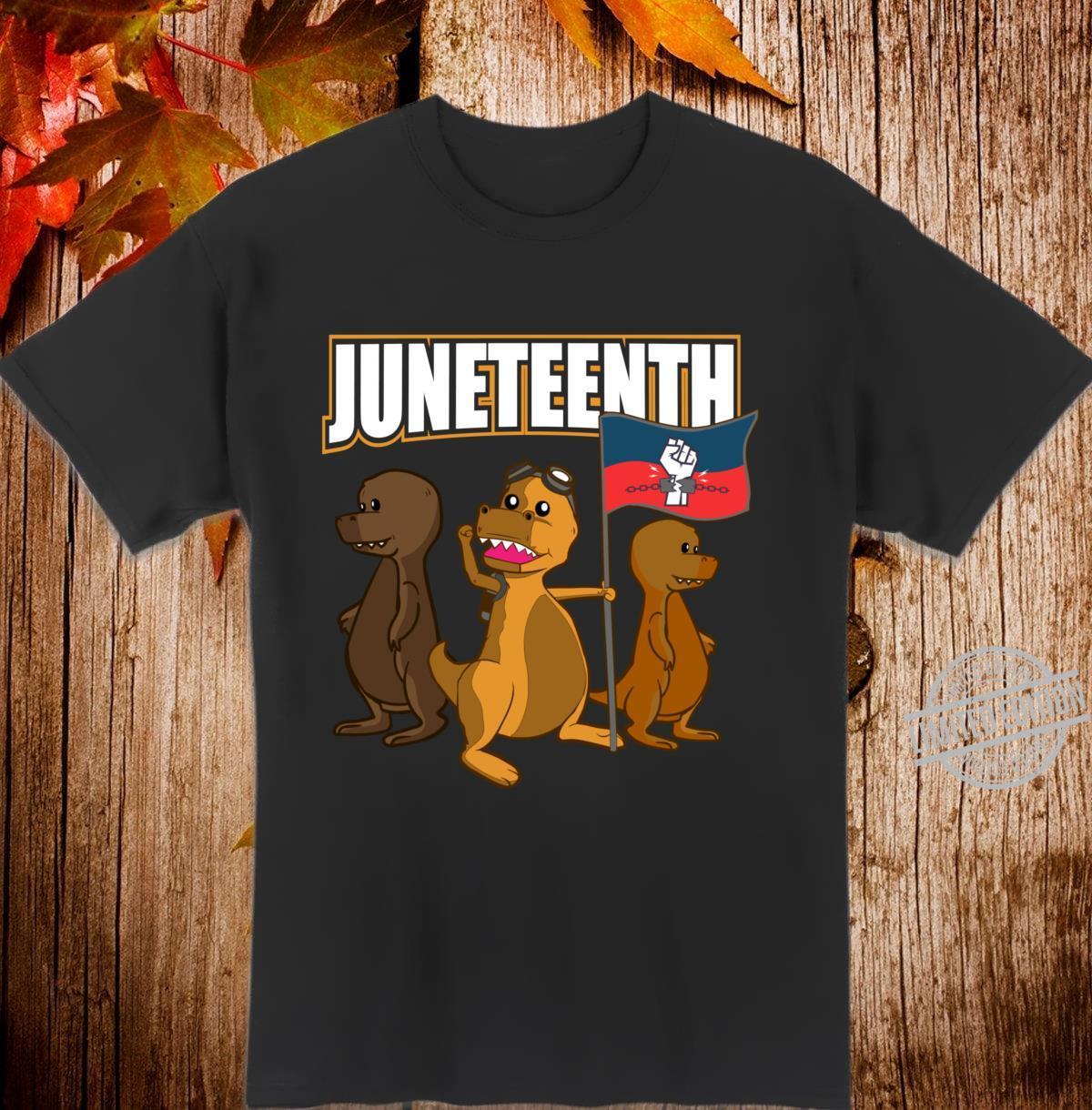 Black Power Cute African American Dinosaur TRex Shirt