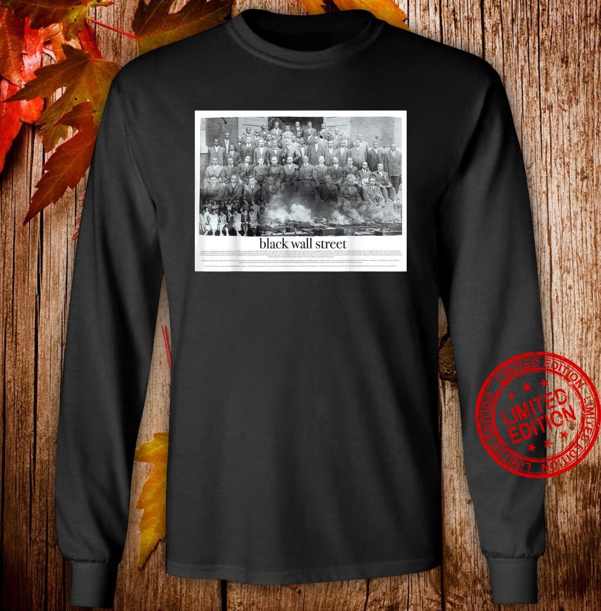 Black Wall Street Shirt long sleeved
