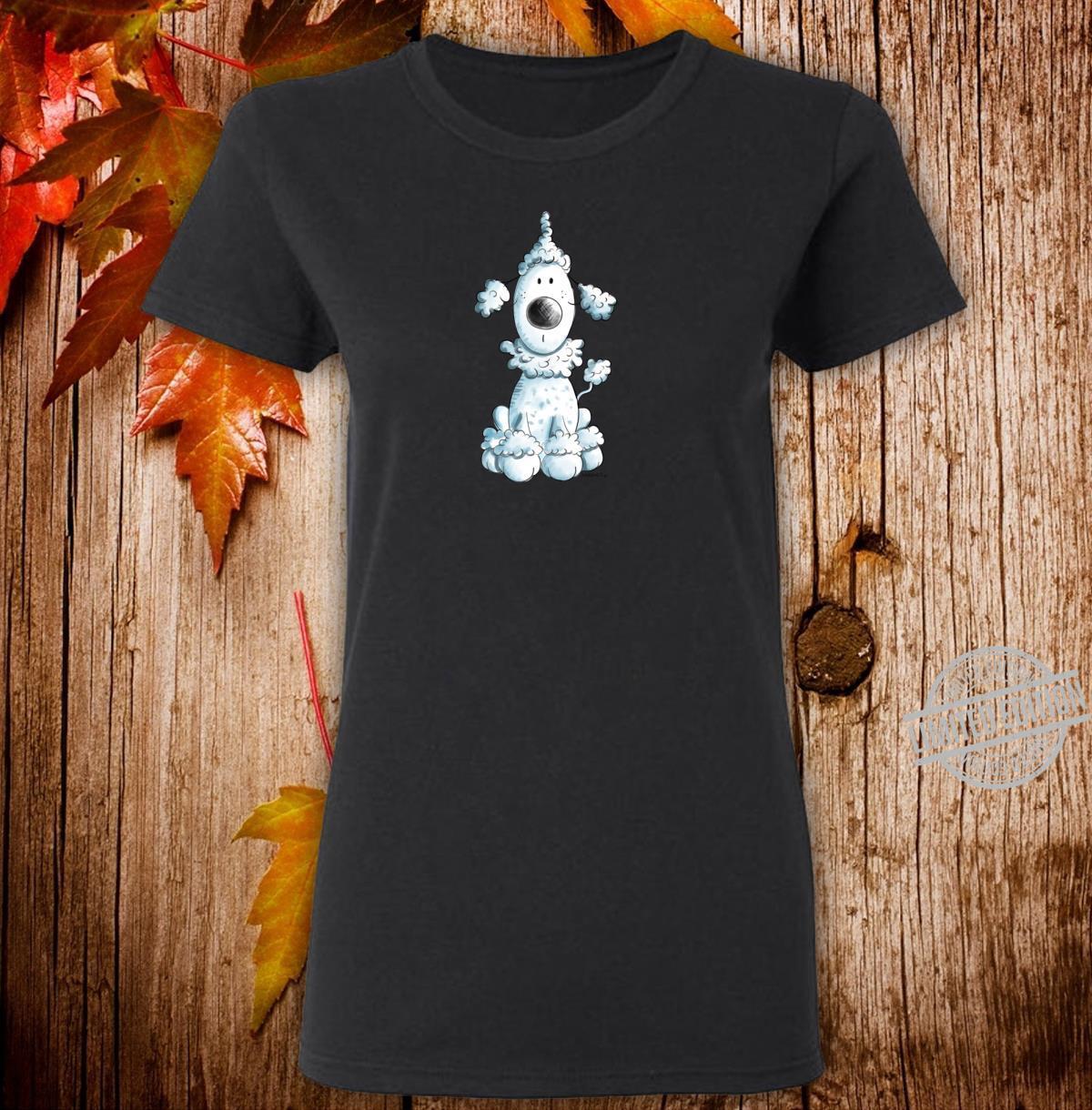 Blauer Pudel I Pudelhund Freunde Design I Hunde Fan Shirt ladies tee