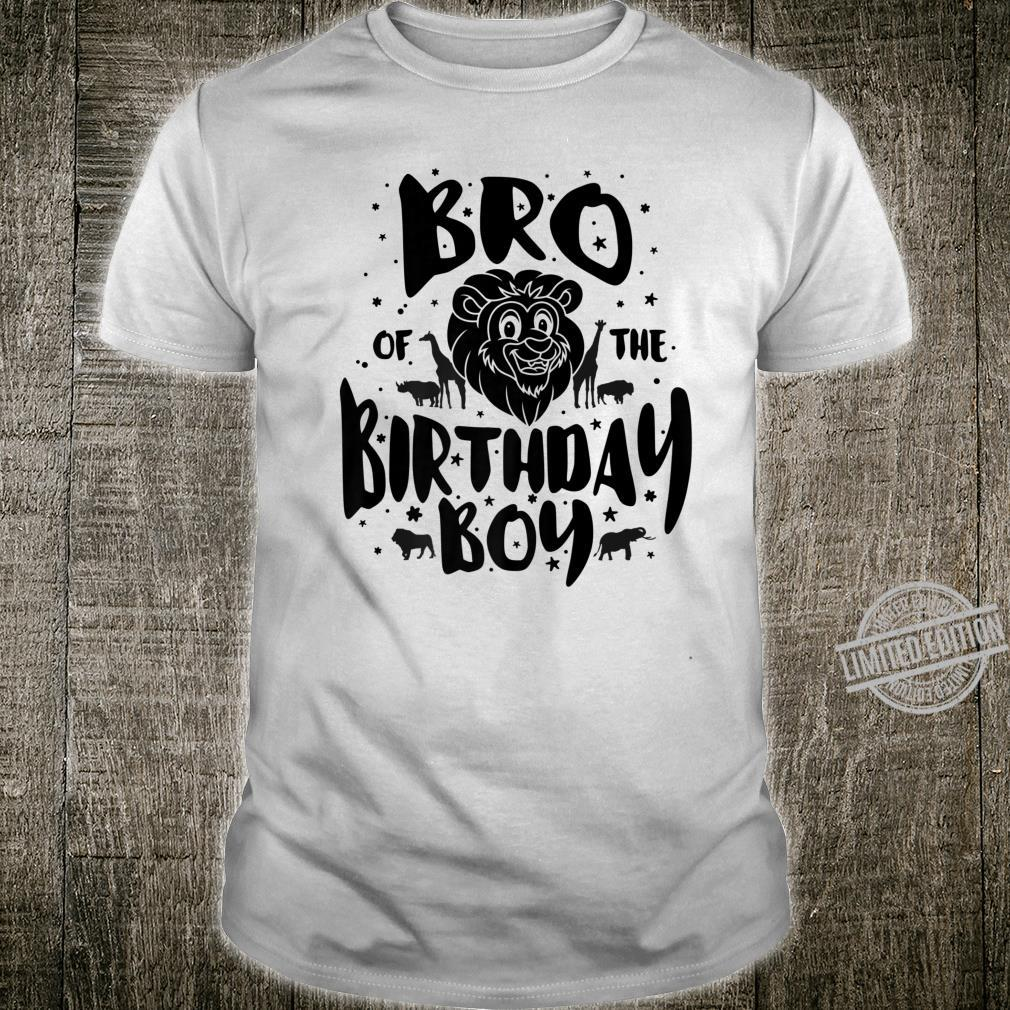 Bro of the Birthday Boy cute safari family matching Shirt