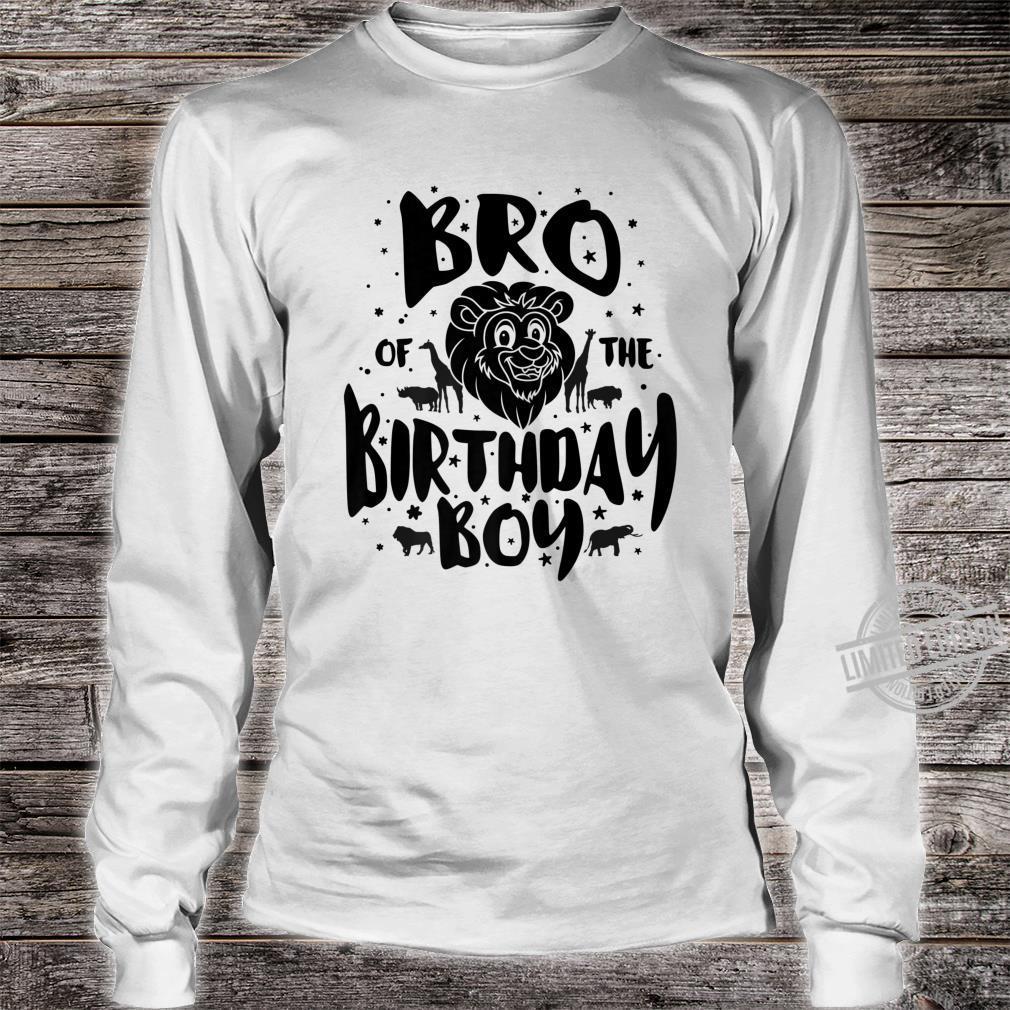 Bro of the Birthday Boy cute safari family matching Shirt long sleeved