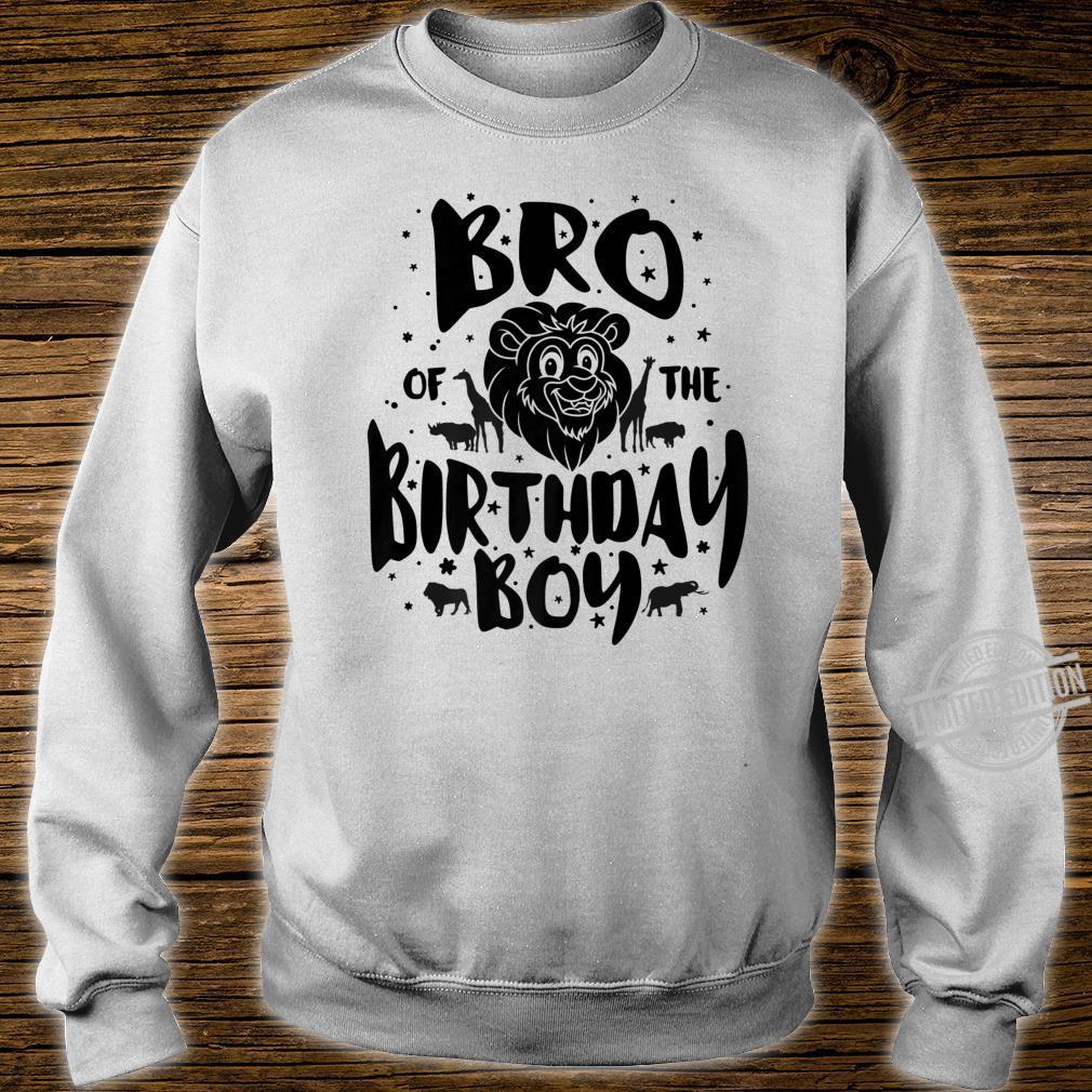 Bro of the Birthday Boy cute safari family matching Shirt sweater