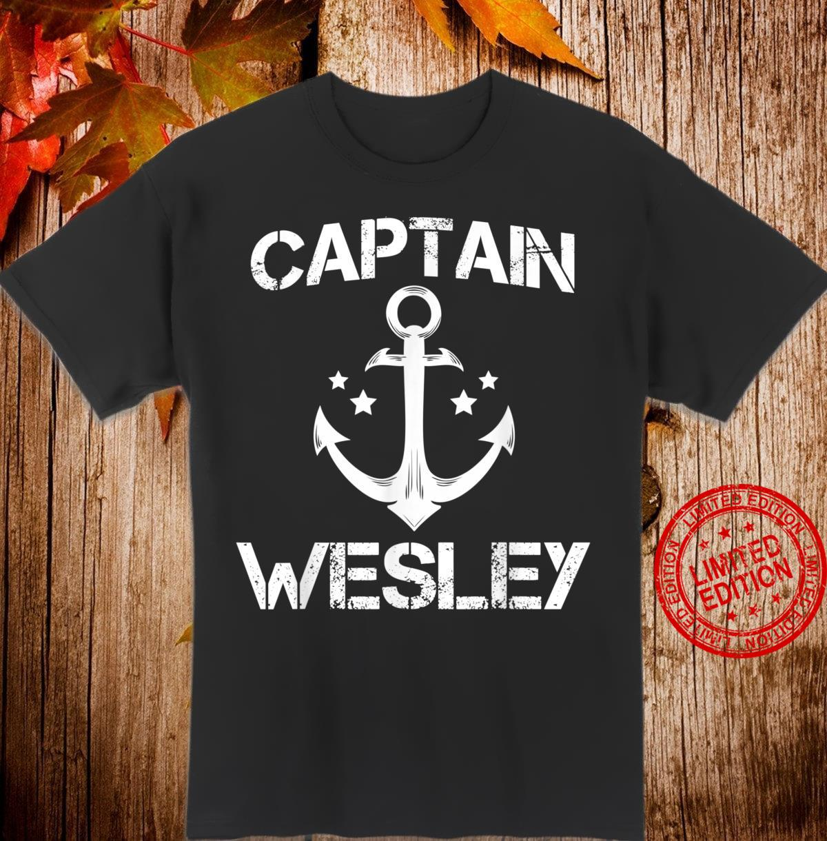 CAPTAIN WESLEY Birthday Personalized Name Boat Shirt