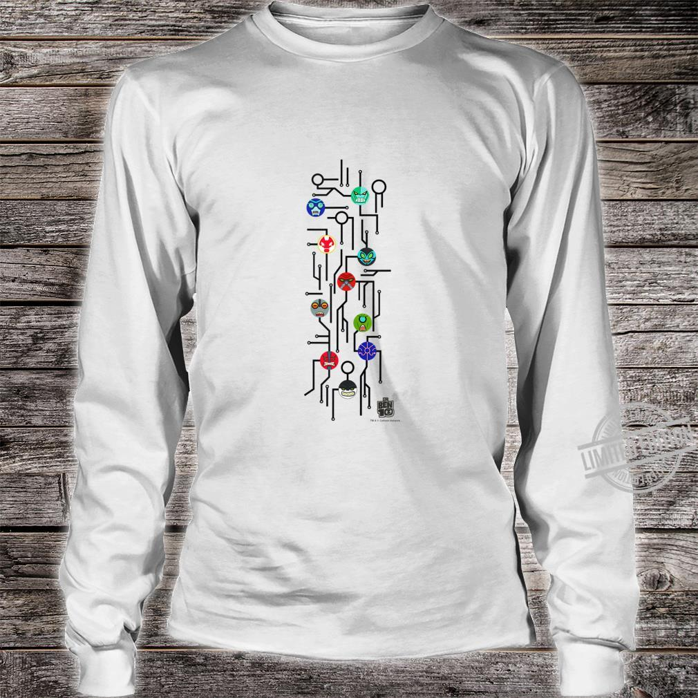 CN Ben 10 Alien Icons Map Shirt long sleeved