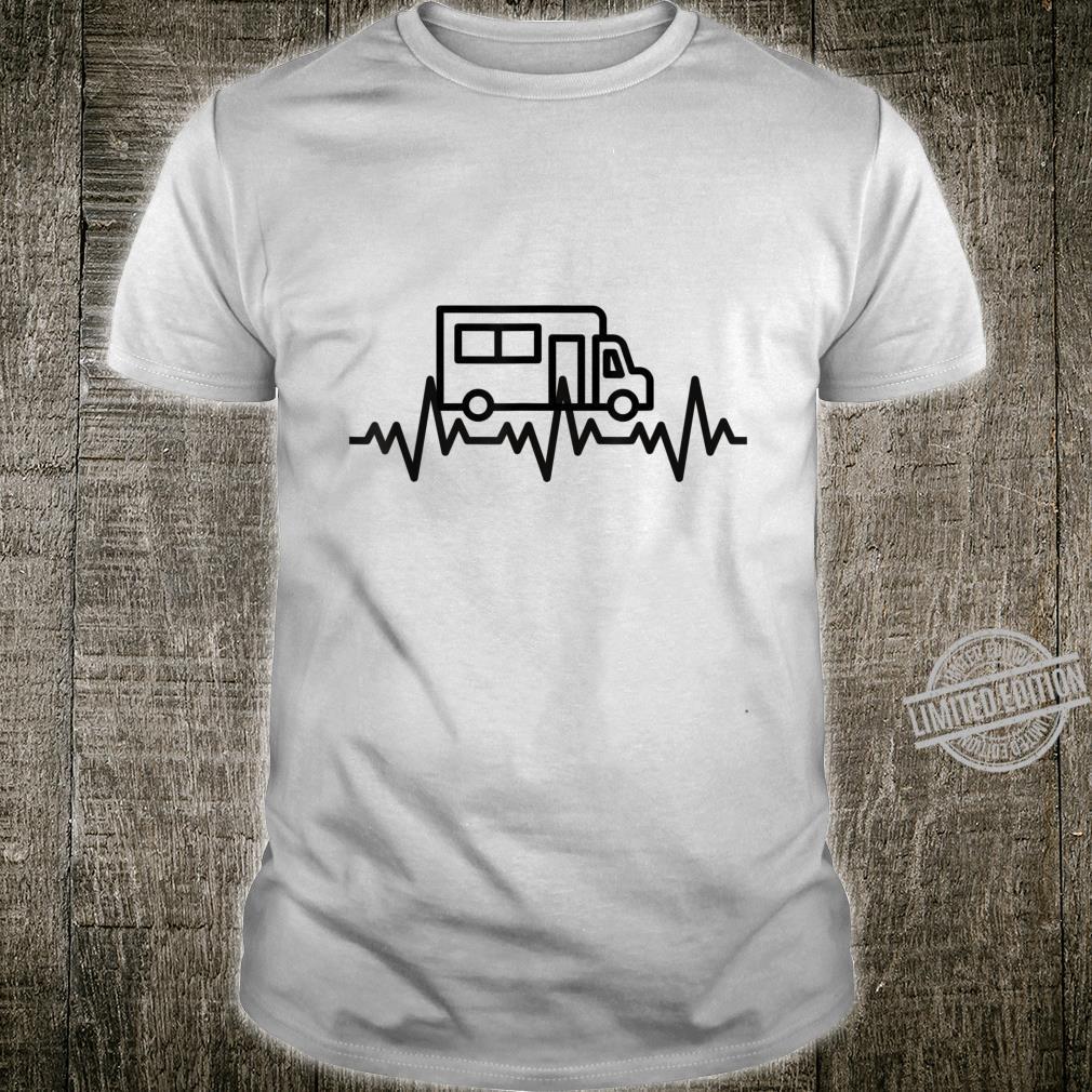 Camping Herzschlag EKG Wohnmobil Geschenk Camper Shirt
