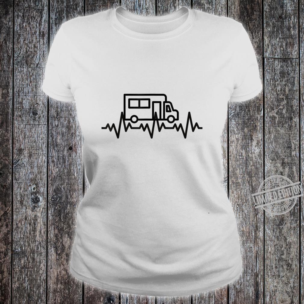 Camping Herzschlag EKG Wohnmobil Geschenk Camper Shirt ladies tee