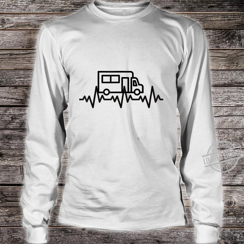 Camping Herzschlag EKG Wohnmobil Geschenk Camper Shirt long sleeved