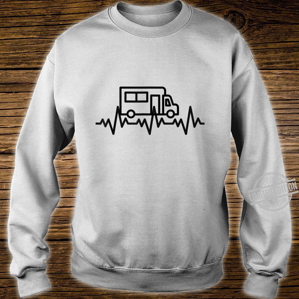 Camping Herzschlag EKG Wohnmobil Geschenk Camper Shirt sweater