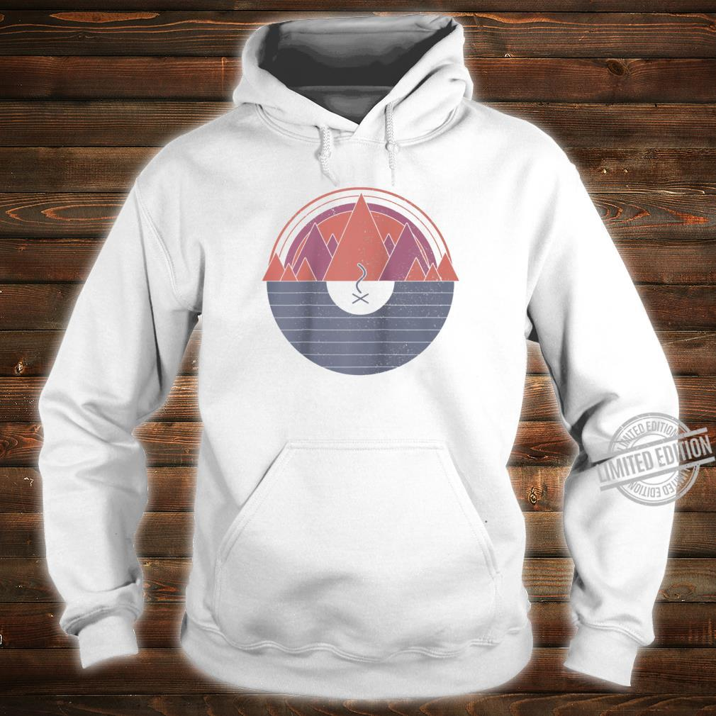 Camping Vintage Minimal Mountains Scout Camper Outdoor Shirt hoodie