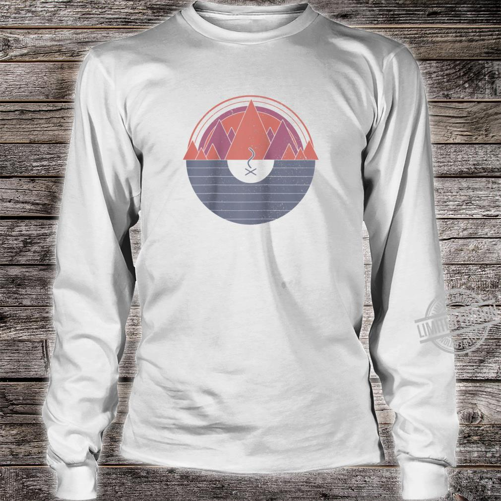 Camping Vintage Minimal Mountains Scout Camper Outdoor Shirt long sleeved