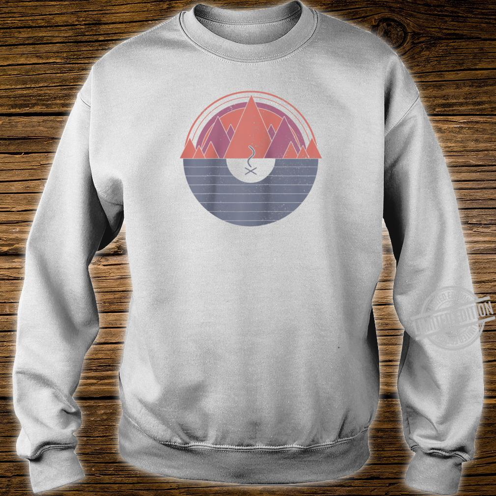 Camping Vintage Minimal Mountains Scout Camper Outdoor Shirt sweater