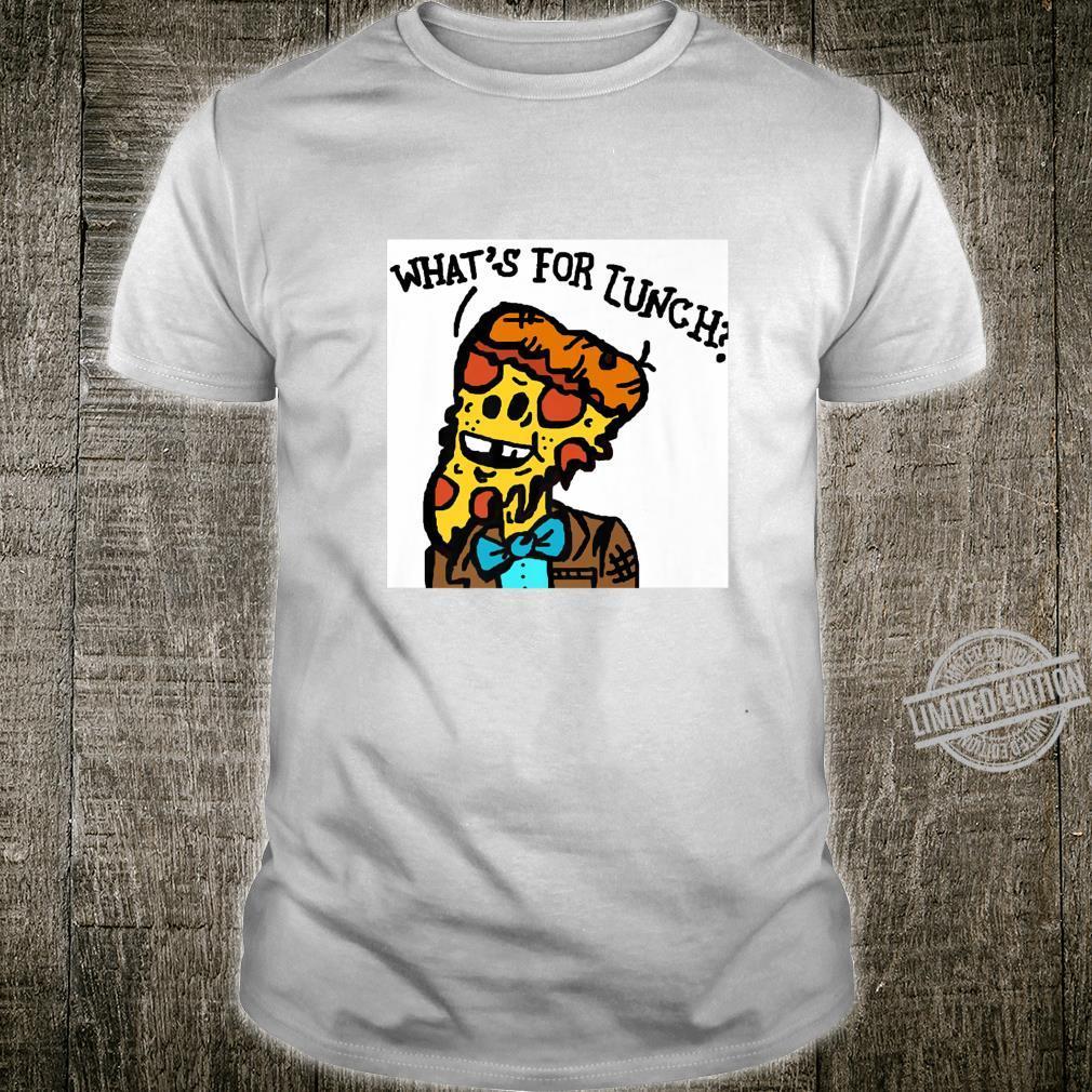 Cartoon Humor Art Pepperoni Pizza Slice Bowtie Man Shirt