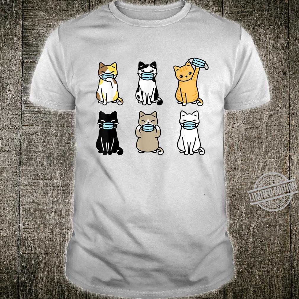 Cat Face Mask, Cute Pet Catss Quarantine Cat Mom Shirt