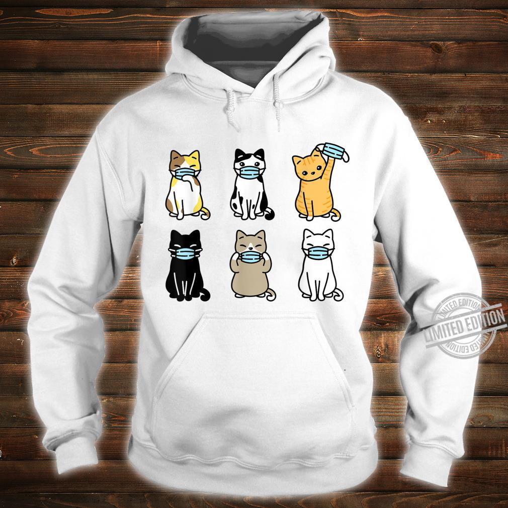 Cat Face Mask, Cute Pet Catss Quarantine Cat Mom Shirt hoodie