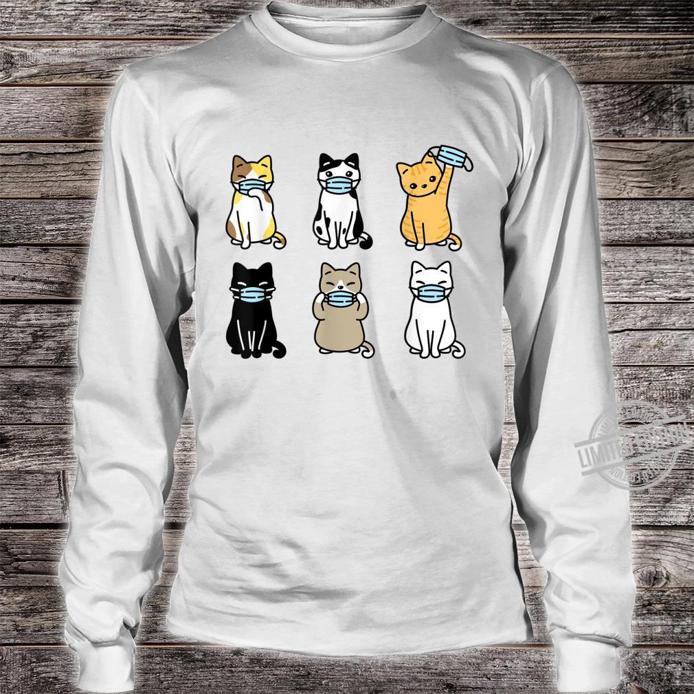 Cat Face Mask, Cute Pet Catss Quarantine Cat Mom Shirt long sleeved