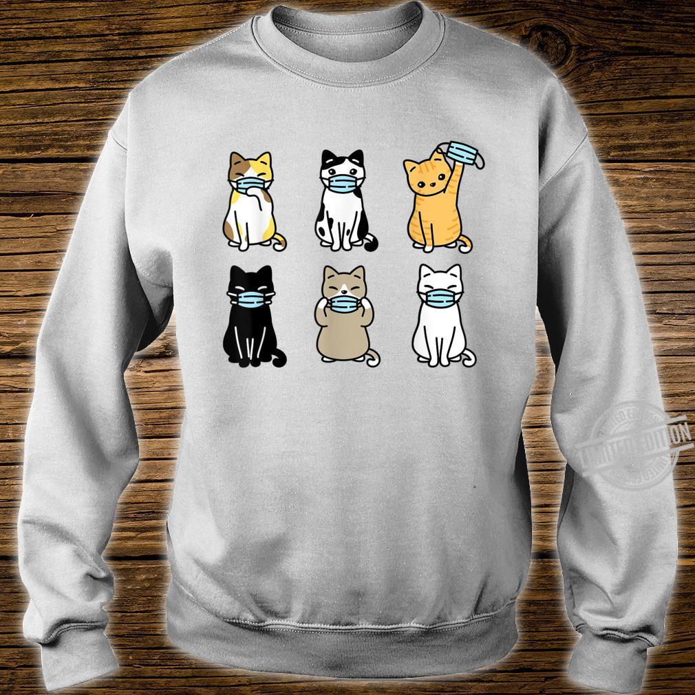 Cat Face Mask, Cute Pet Catss Quarantine Cat Mom Shirt sweater
