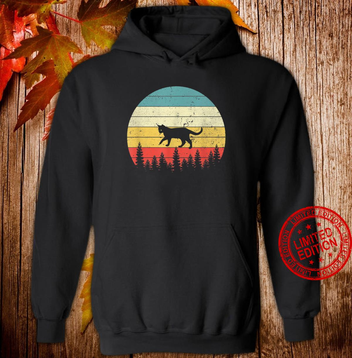 Cat Vintage Retro Sunset Cat Cats Shirt hoodie