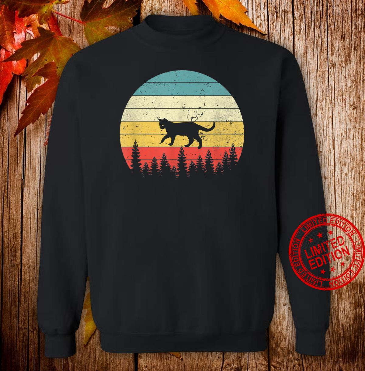 Cat Vintage Retro Sunset Cat Cats Shirt sweater