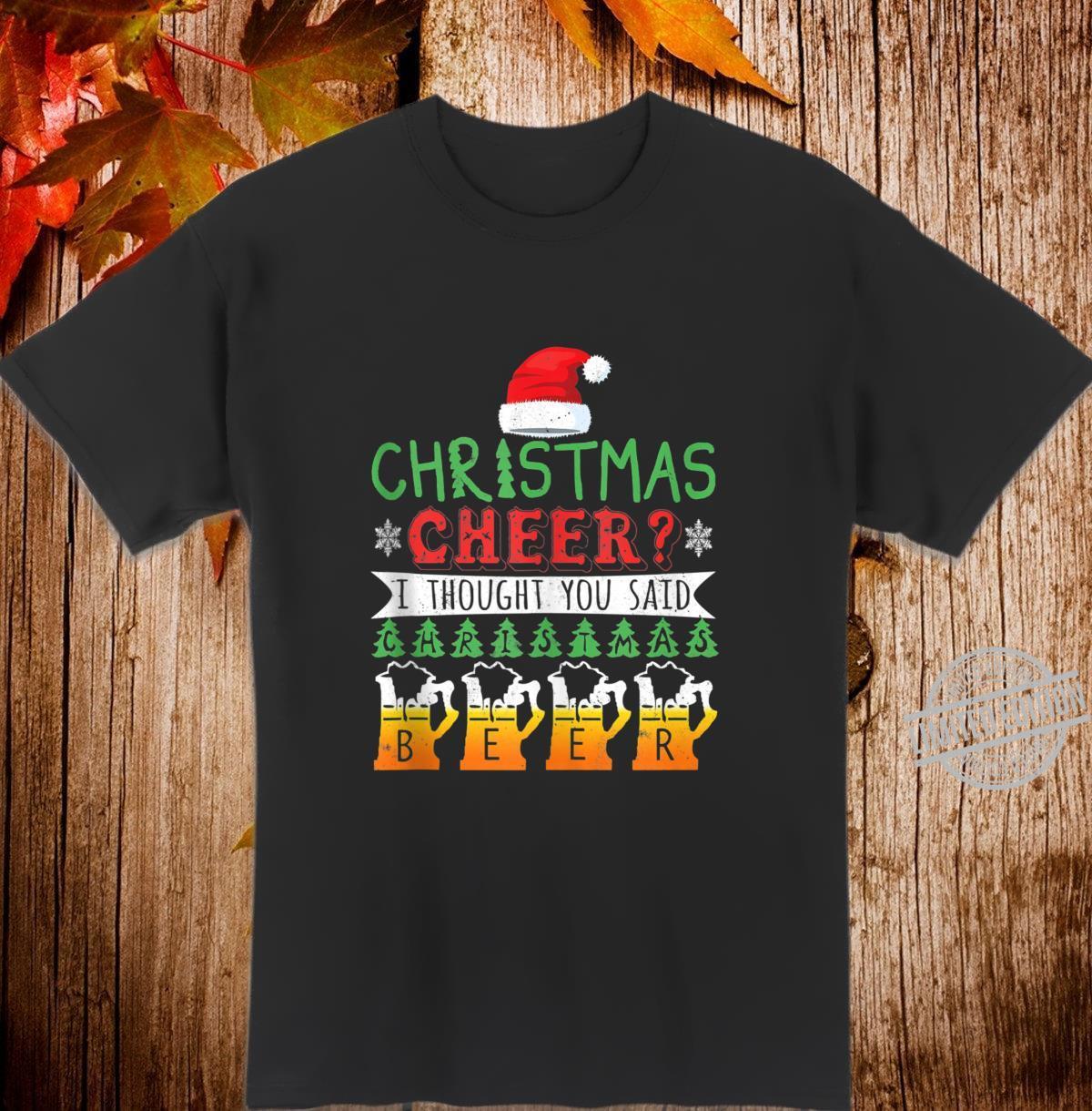 Christmas Cheer Christmas Beer Christmas Amazing Shirt