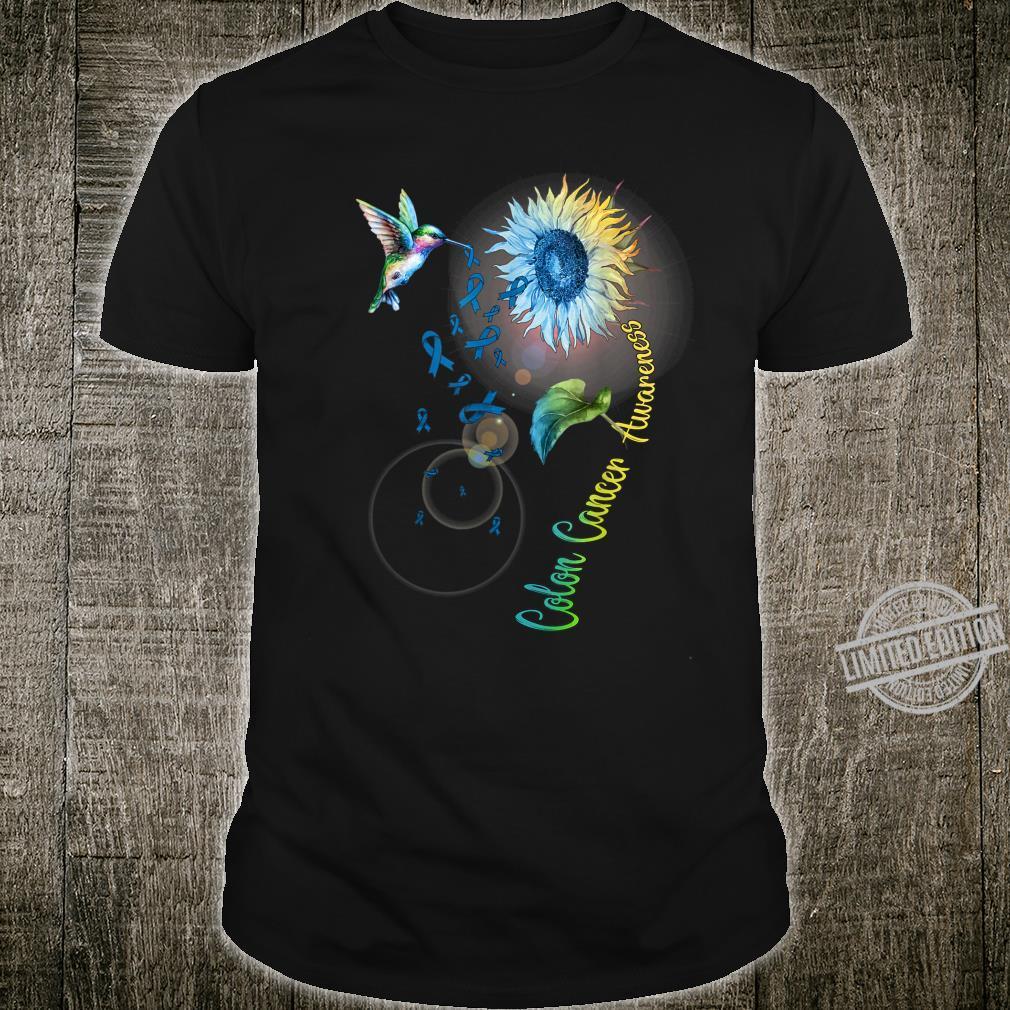 Colon Cancer Sunflower Hummingbird Shirt