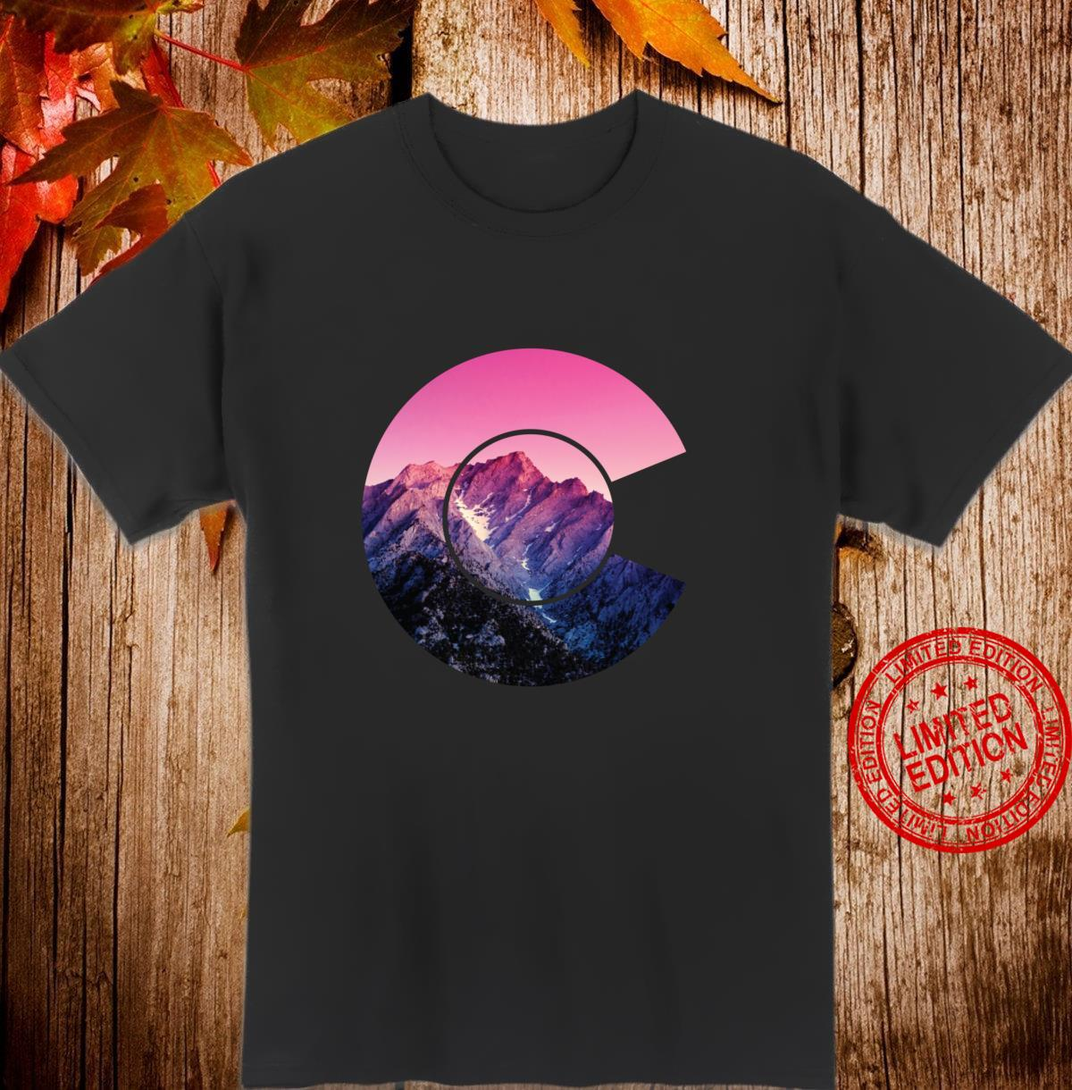 Colorado Snow Capped Mountain Colorful Langarmshirt Shirt
