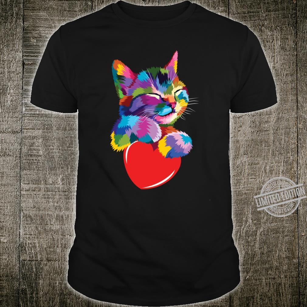 Colorful Art kitten Cute Cat for Kitty Adoptions Shirt