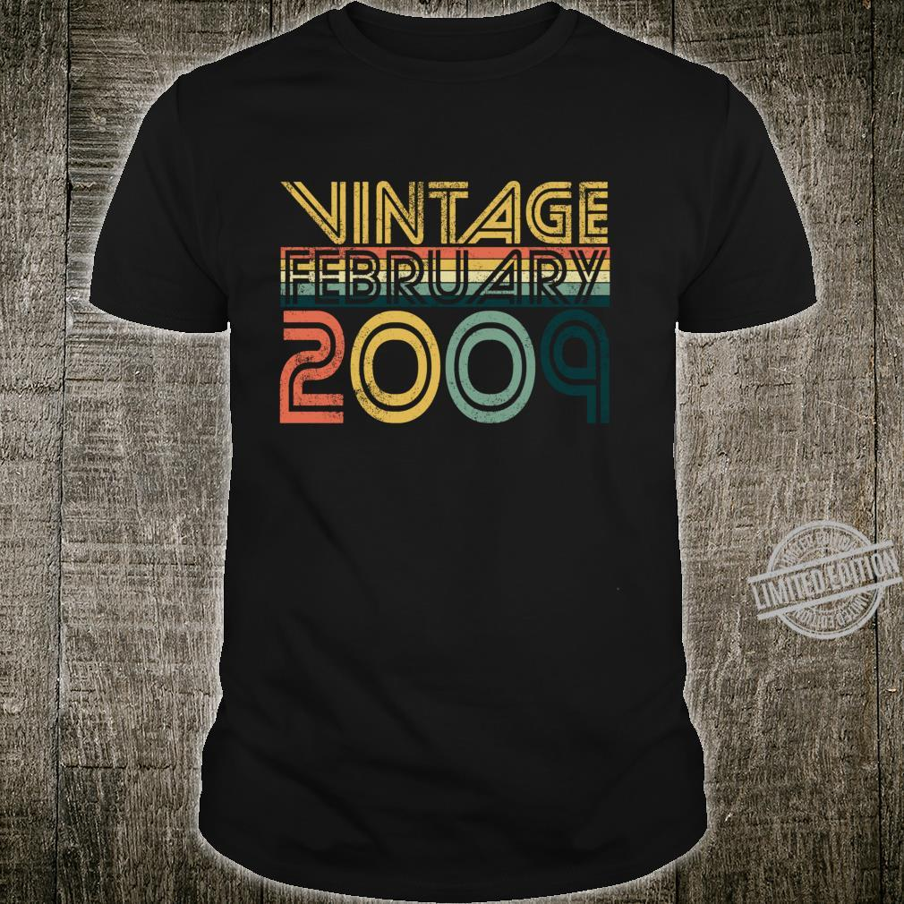 Cool 11th Birthday 11 Years Old Vintage February 2009 Shirt