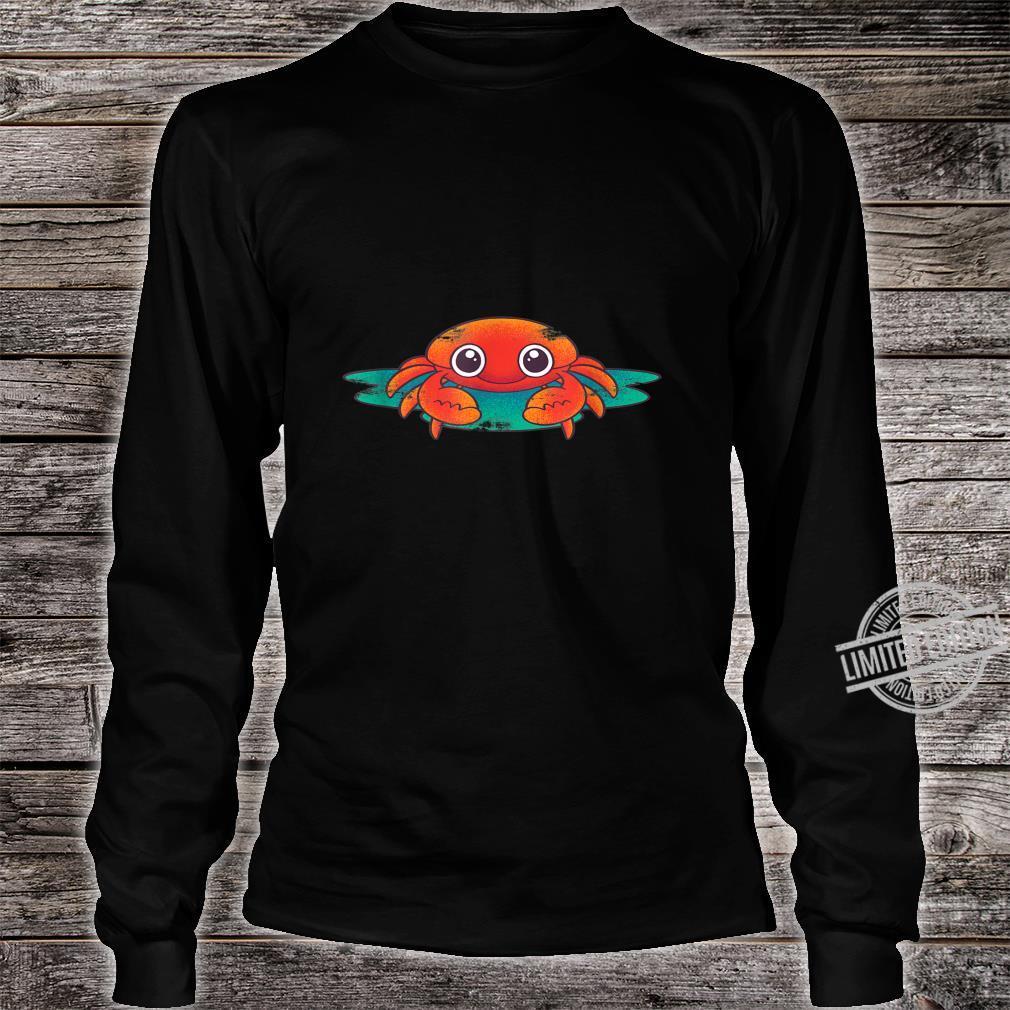 Crab Lobster Sea Aanimal Porcelain Crab Idea Crab Shirt long sleeved