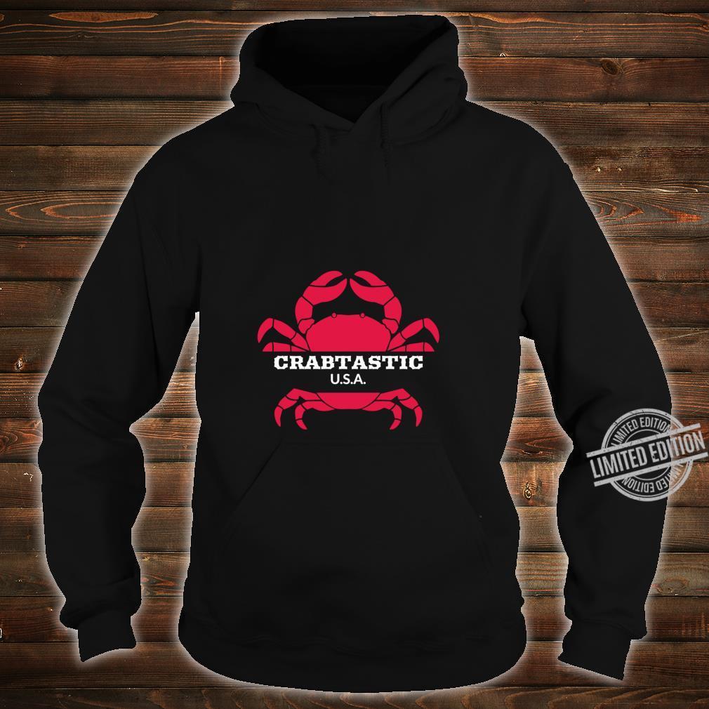 Crabtastic USA Summer Beach Red Crab Shirt hoodie