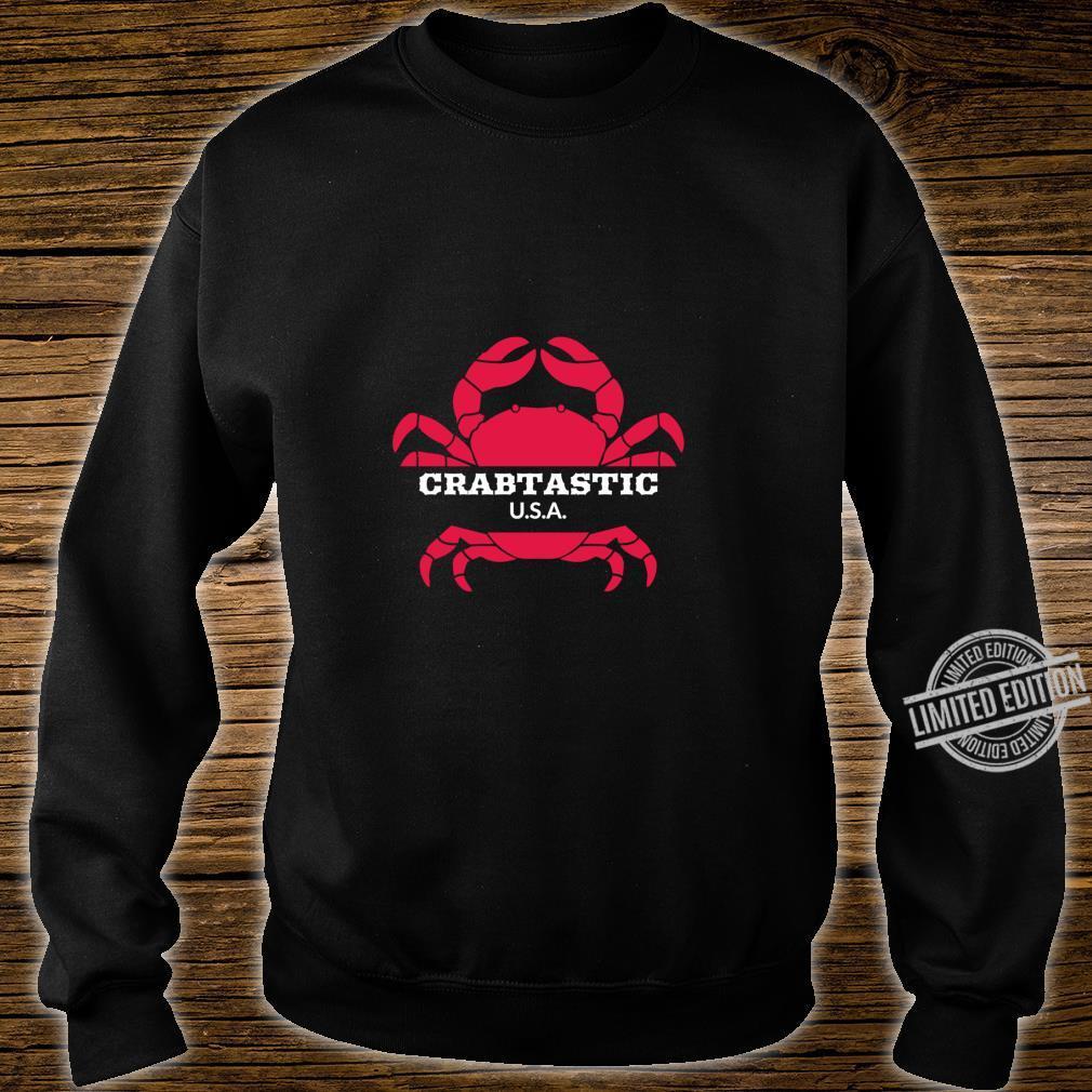 Crabtastic USA Summer Beach Red Crab Shirt sweater