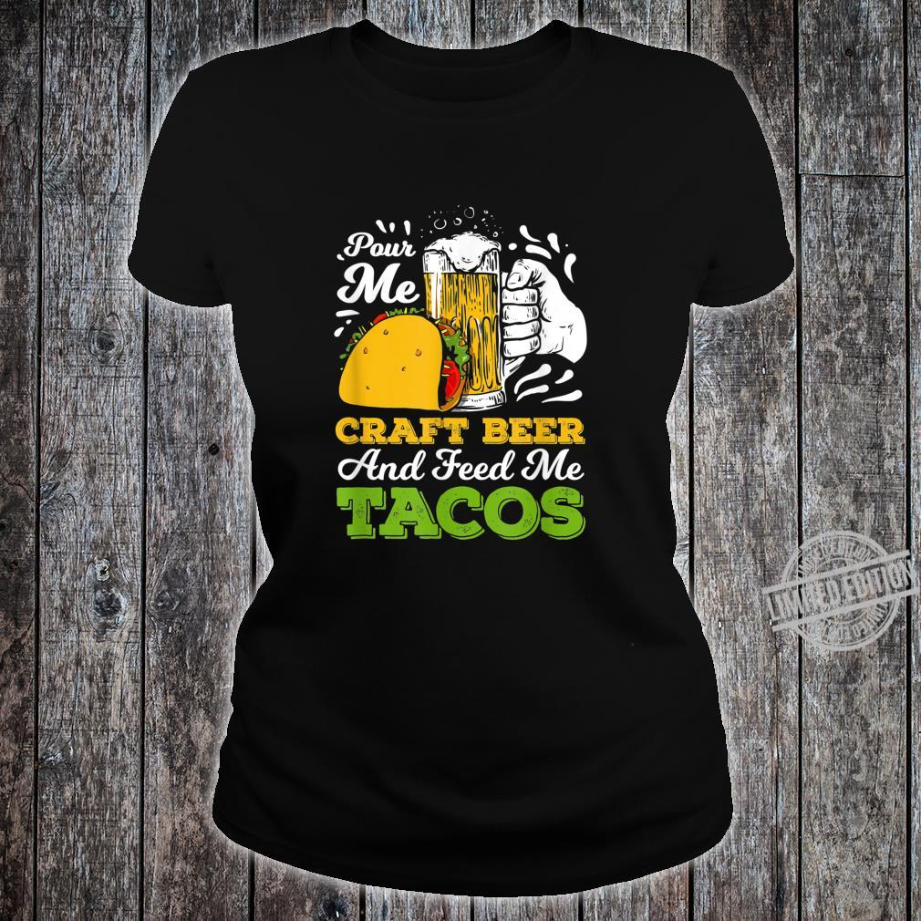 Craft Beer For A Taco Loving Craft Beer Shirt ladies tee