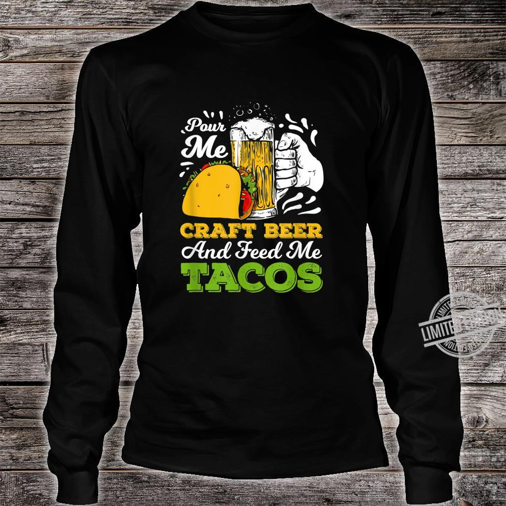 Craft Beer For A Taco Loving Craft Beer Shirt long sleeved